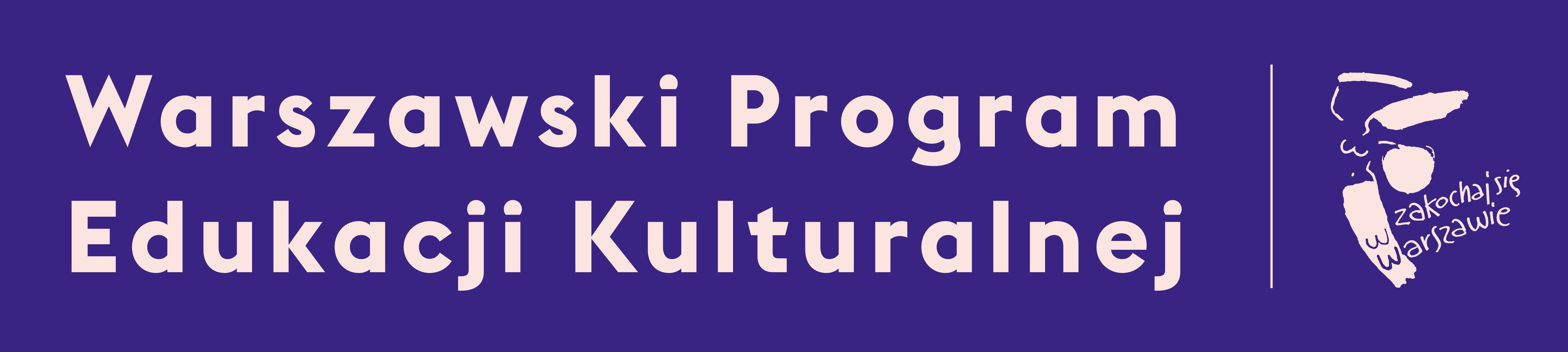 Warszawski Program Edukacji Kulturalnej i logo Miasta Stołecznego Warszawy
