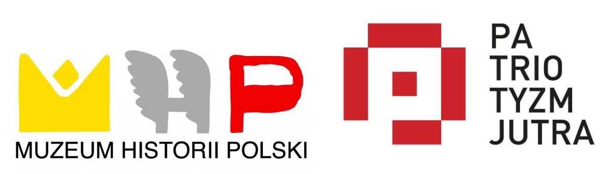 Logo Muzeum Historii Polski i programu Patriotyzm Jutra