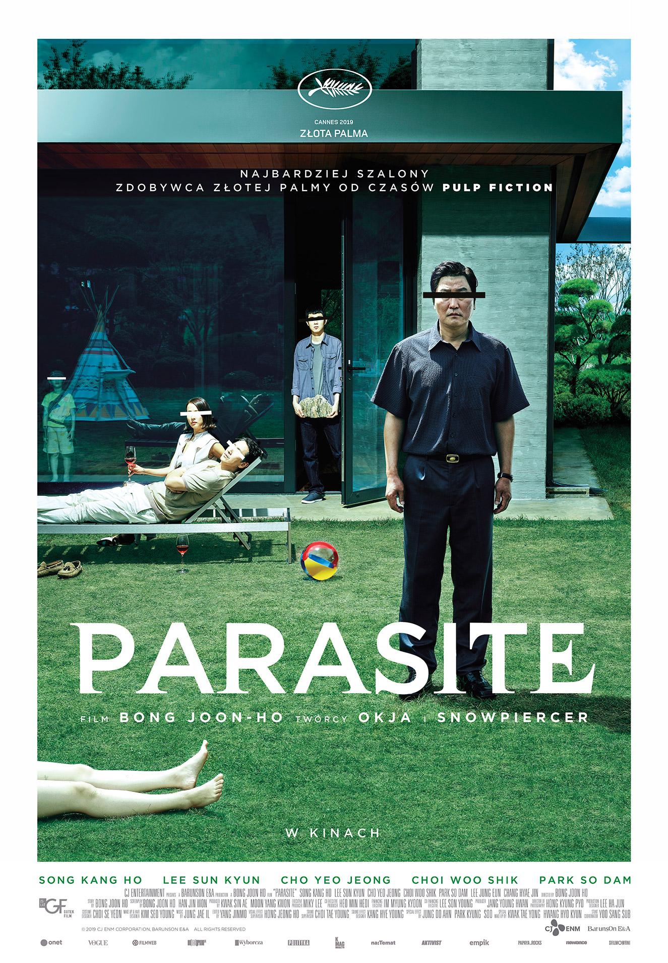 plakat promujący film Parasite