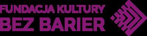 Logotyp Fundacji Kultury bez barier