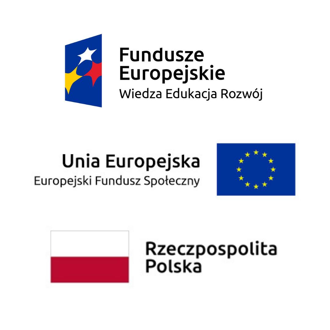 Logotypy Fundusze Europejskie Wiedza Edukacja Rozwój, Unia Europejska Europejski Fundusz Strategiczny, Rzeczpospolita Polska